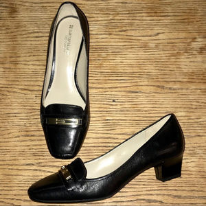 Naturalizer N5 Comfort Black Leather Pumps - Flynn